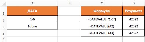 Функция DATAVALUE (ДАТАЗНАЧ) в Excel