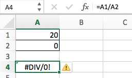 IFERROR в Excel