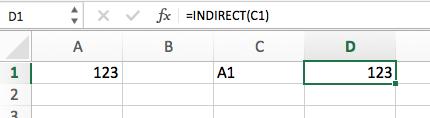 INDIRECT (ДВССЫЛ) в Excel - 2