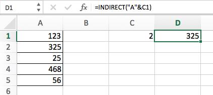 Функция INDIRECT (ДВССЫЛ) в Excel - 3