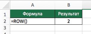 Excel функция - ROW (СТРОКА) в Excel