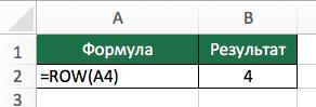 Функция ROW (СТРОКА) в Excel