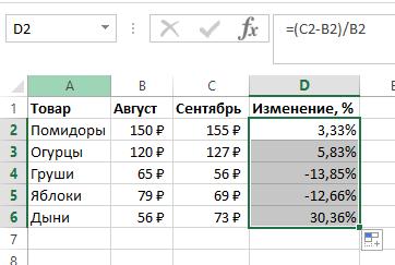 Формула процентов по кредиту в эксель