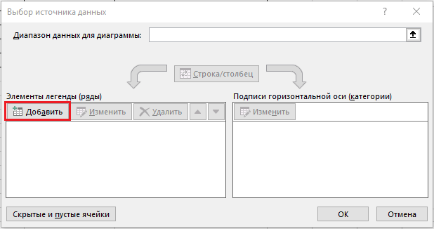 как добавить элемент диаграммы Ганта в xcel