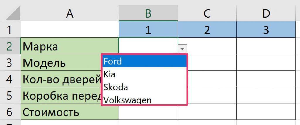 Как найти все выпадающие списки на листе Excel